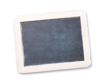 Blackboard. Isolated on white background. Top view Stock Photo