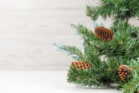 Christmas greeting card with fir tree and copy space for your xmas greetings Stock Photo