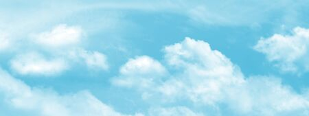 Abstract sunny sky with clouds texture wide background Stock Photo