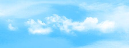 Abstract sunny sky with clouds texture wide background Stock Photo - 137795372