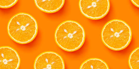 Orange citrus seamless backdrop texture. Flat lay background