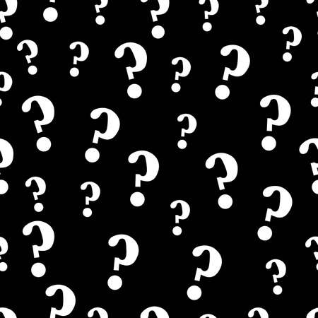 Question mark seamless pattern. Black and white seamless pattern. Trendy pattern for clothes and phone case.