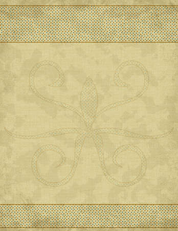 beige: Beige background with dots, ornament and grunge