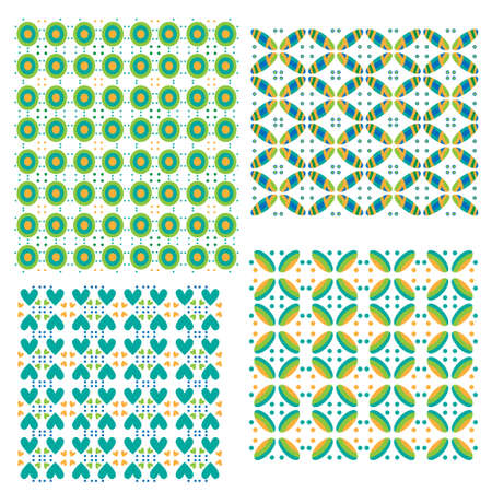 Colorful tiling textures collection