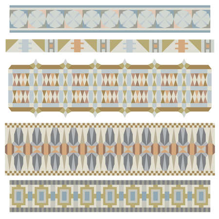 borders abstract: Beautiful trim or border collection