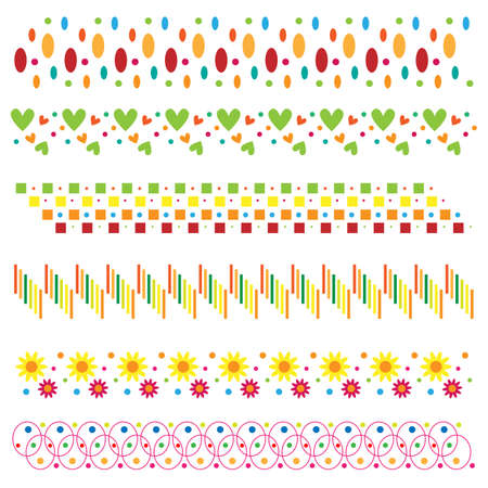 Colorful border collection