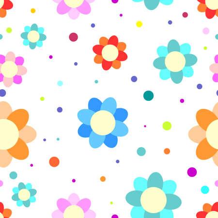 Colorful flower background Illustration