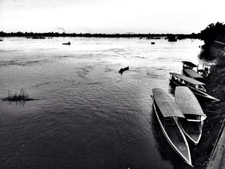 kong river: Kong river in Lao Champasak Stock Photo