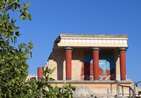 Ancient Knossos palace at Crete island in Greece