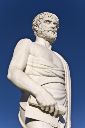 Aristotle statue at Stageira of Greece photo