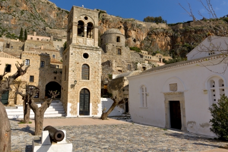 peloponnise: Medieval village of Monemvasia in Greece