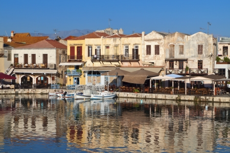 rethymno: Rethymno city at Crete island in Greece