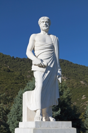 Aristotle statue located at Stageira of Greece Stock Photo - 16329518