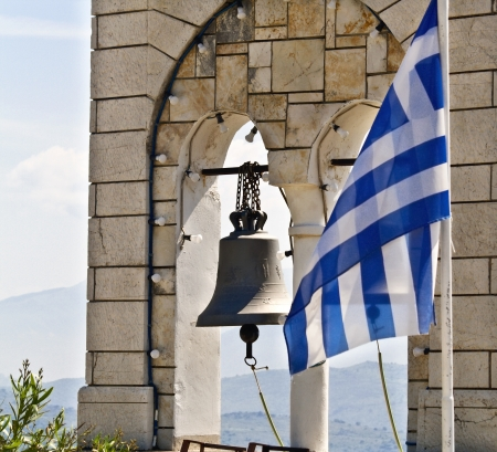 kerkyra: Steeple of an Orthodox church at Corfu, Greece