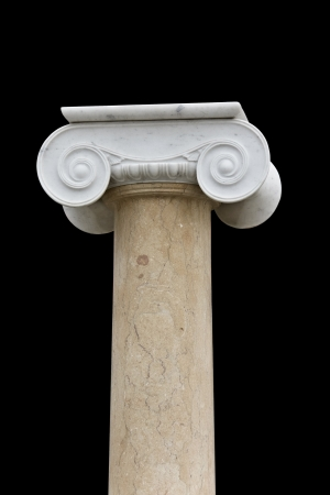 Ionic order column from an ancient Greek temple photo