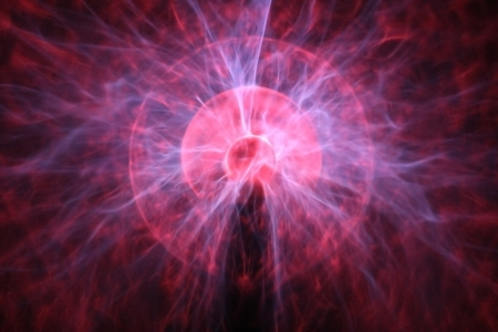 Particle explosion alike artistic creation