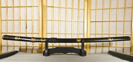 Traditional Japanese samurai sword photo