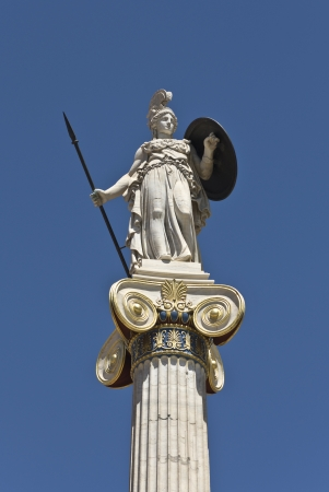 Statue of Athena at the Academy of Athens in Greece photo