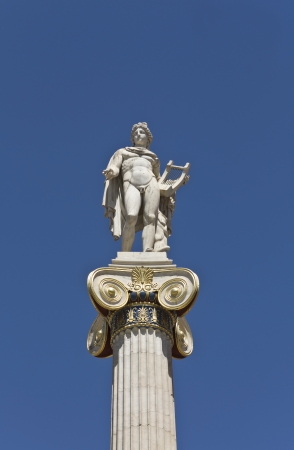 Apollo statue at the Academy of Athens, in Greece Stock Photo - 15875578