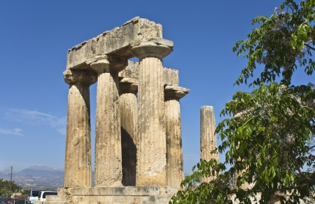 Ancient Corinth, temple of Apollo, Greece  photo