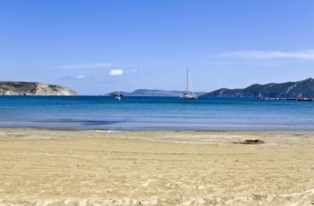 messinia: Methoni beach at Messinia, Greece