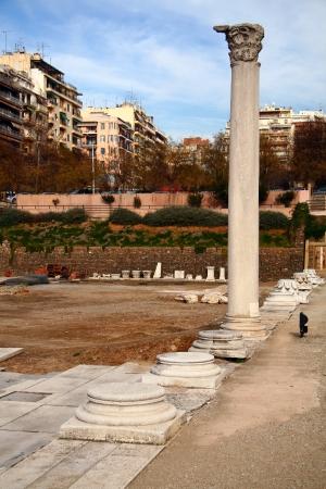 thessaloniki: The Roman square, Thessaloniki city in Greece