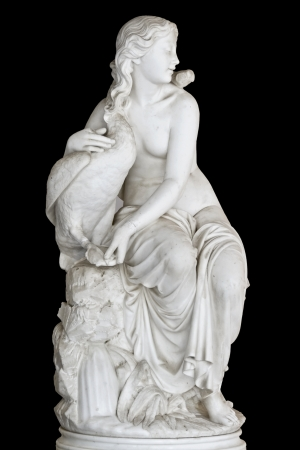 greek statue: Statue showing a Greek mythical muse  Stock Photo