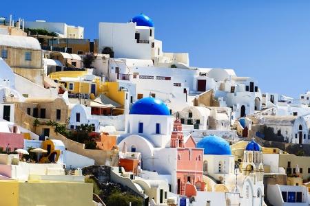 Santorini island in Greece  Village of Oia