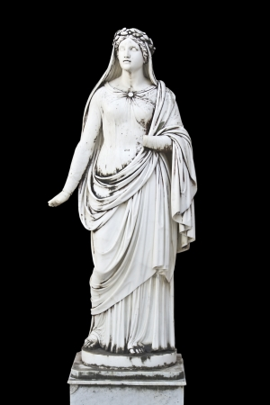 Statue showing a Greek mythical muse  photo