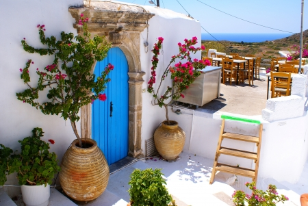 Greek traditional house located at Kithira island photo