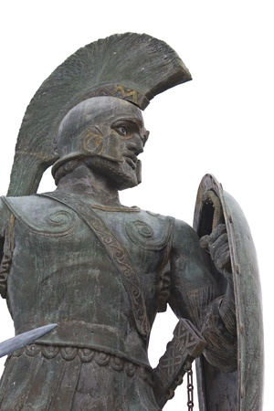 Leonidas statue at Sparta city in Greece  photo