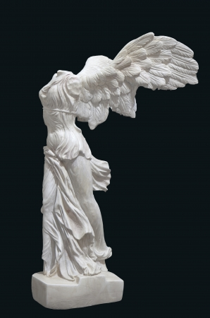 Greek classical statue of Nike of Samothrace photo