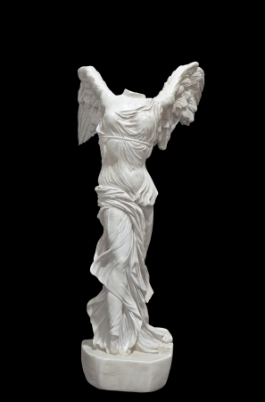 diosa griega: Estatua griega cl�sica de Nike de Samotracia