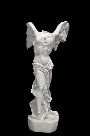 Greek classical statue of Nike of Samothrace
