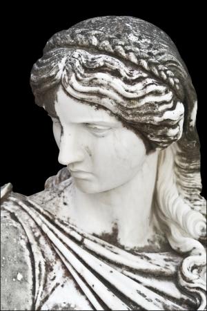 arte greca: Statua che mostra una musa greca mitico Archivio Fotografico