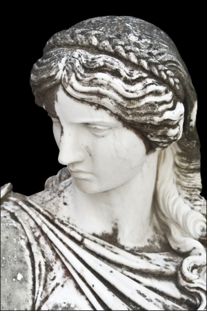 greek gods: Statue showing a Greek mythical muse
