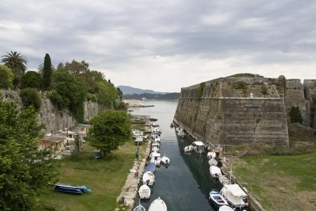 ionio: Old fortress at Corfu island, Greece  Stock Photo