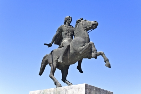 alexander great: Statue of Alexander the Great in Greece Stock Photo
