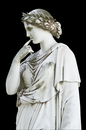 Ancient statue showing a Greek mythical muse