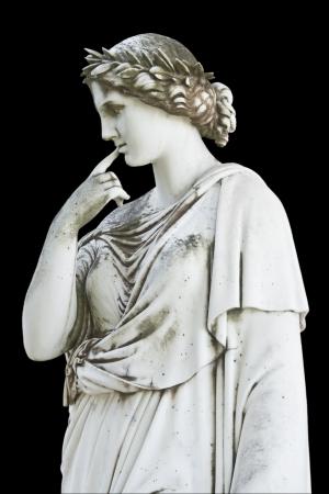 statue grecque: Statue antique repr�sentant une muse grecque mythique