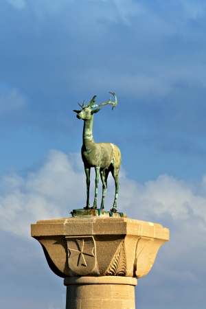 The statue of the Deer at Rhodes island, Greece photo
