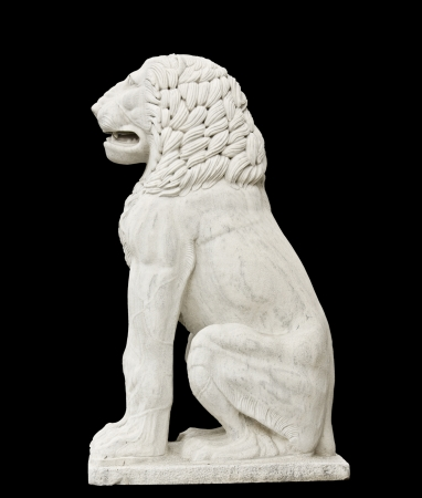 Greek classic era statue showing a lion  photo