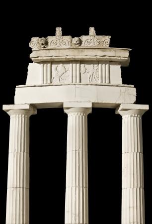 tempio greco: Antico dettaglio tempio greco