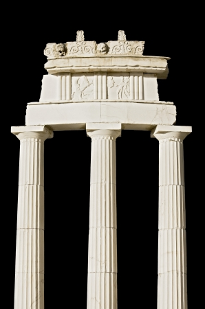 Replica of an ancient Greek temple  detail   photo
