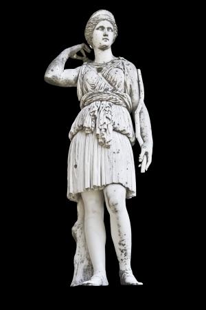 athena: Greek ancient statue of a Muse, Achilleion palace, Corfu island