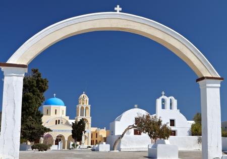 kyklades: Oia village of Santorini island in Greece