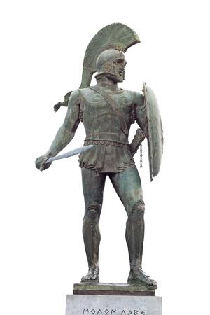 Leonidas de los 300 soldados espartanos, Sparta, Grecia Foto de archivo - 15875889
