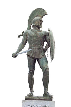 Leonidas of the 300 spartan soldiers, Sparta, Greece photo