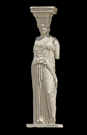 Greek ancient statue of a Caryatid photo