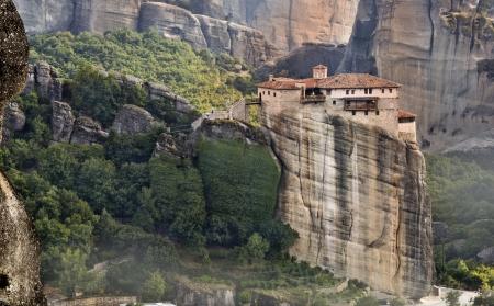 kalabaka: Monastery at Meteora of Kalampaka in Greece
